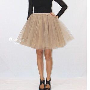 C'est Ca Clarissa Beige Tulle Skirt